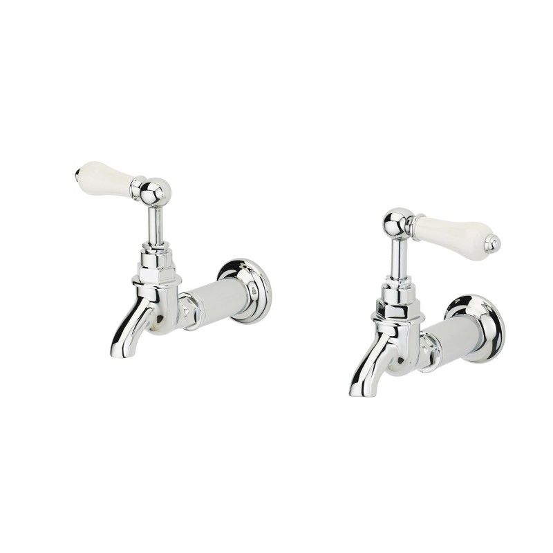 Pevensey Wall Mount Bib Taps - The Water Matrix